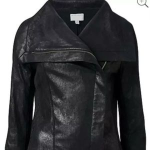 Witchery Ponte Drape Biker Style Jacket Size 8